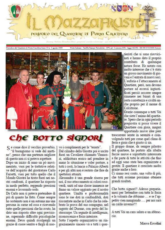 IL MAZZAFRUSTO - Anno 13 - n. 02 - agosto 2009