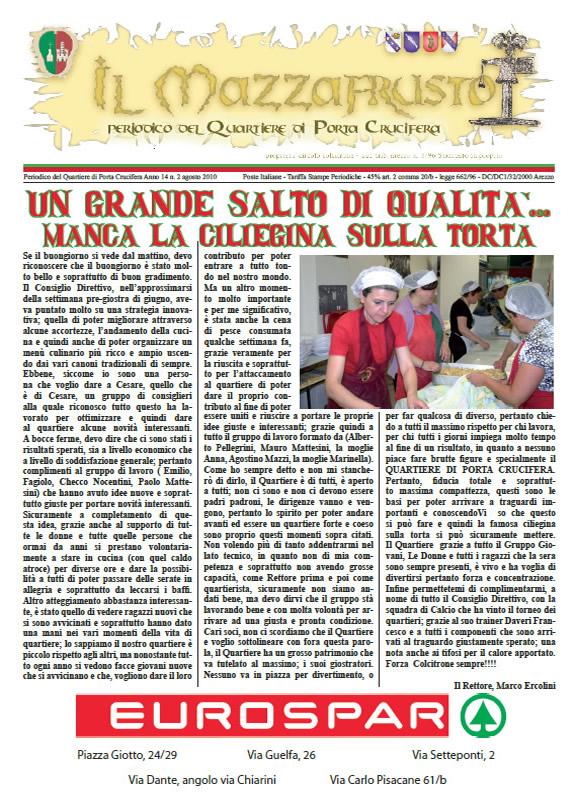IL MAZZAFRUSTO - Anno 14 - n. 02 - agosto 2010