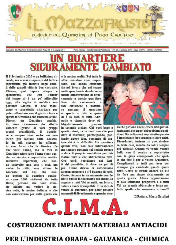 IL MAZZAFRUSTO - Anno 15 - n. 01 - giugno 2011