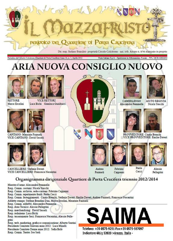 IL MAZZAFRUSTO - Anno 16 - n. 01 - aprile 2012