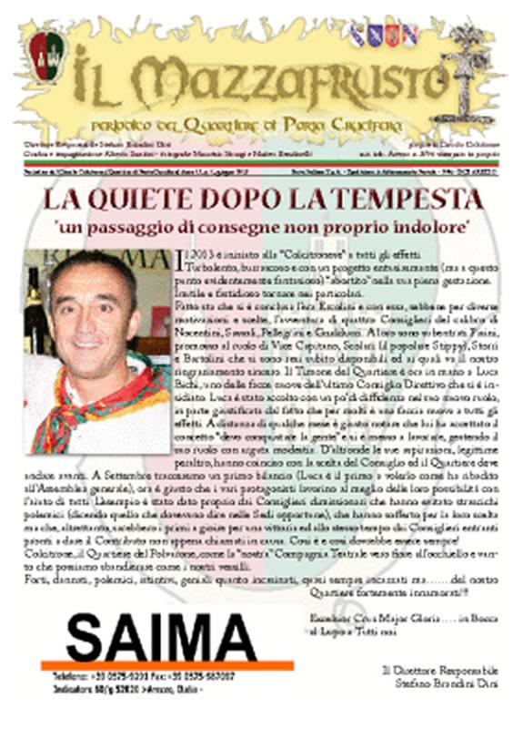 IL MAZZAFRUSTO - Anno 17 - n. 01 - giugno 2013