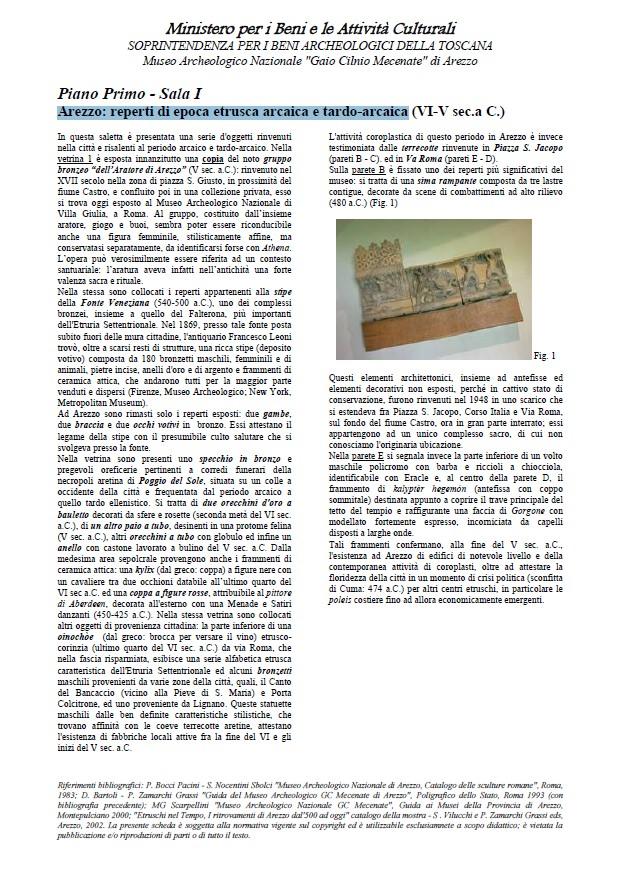 Museo Archeologico di Arezzo schede didattiche