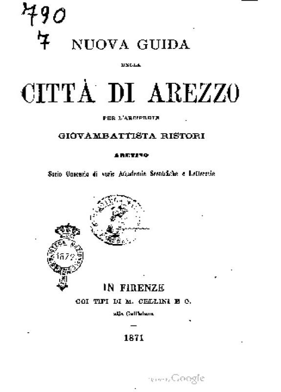 Nuova guida della citta di Arezzo - G. Ristori
