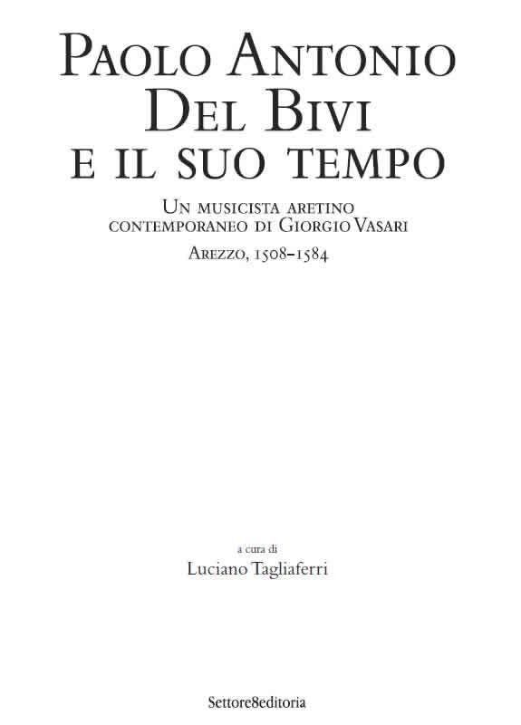 Poesia e musica ad Arezzo nell'eta del Vasari
