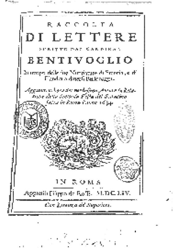 Relatione della sontuosa festa del Saracino fatta in Roma l'anno 1634 - Guido Bentivoglio - 1654