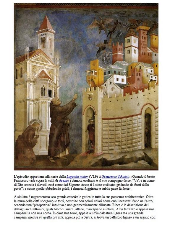 San Francesco caccia i diavoli da Arezzo