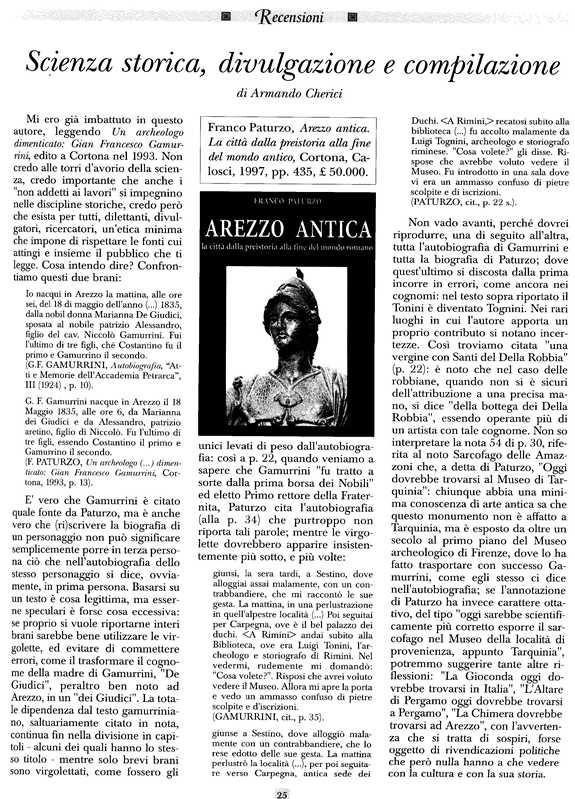Scienza storica e divulgazione - A. Cherici