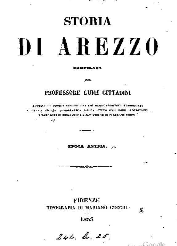 Storia di Arezzo in epoca antica - L. Cittadini