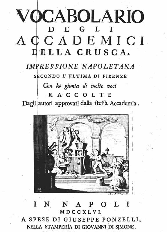 Vocabolario degli Accademici della Crusca (1746)
